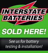 Interstate Batteries Sold Here